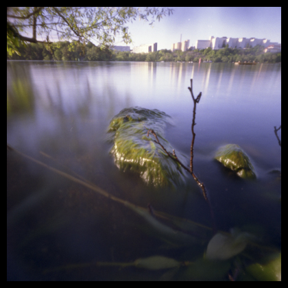 Årstaviken, taken with a Hole-ga, converted Holga camera
